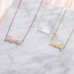 Name Necklace Gothic Font
