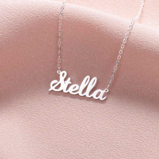 Name Pendant Design Silver