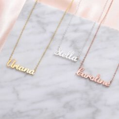 Name Pendant In Gold Silver