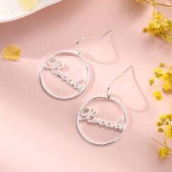 Nameplate Hoop Earrings