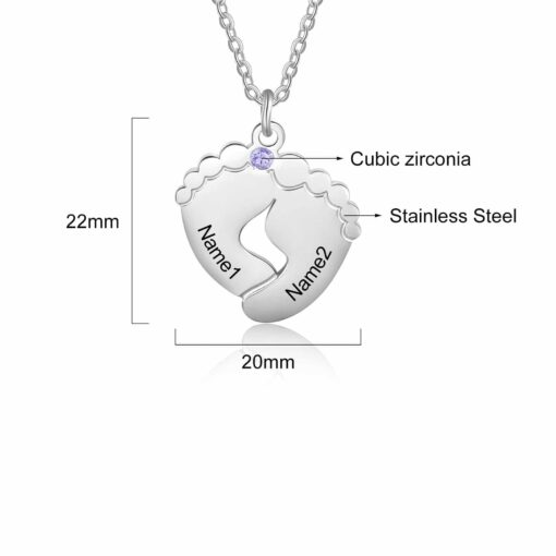 Necklace with Baby Fingerprint Size Materials