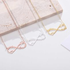 Infinity Necklace Gold Silver