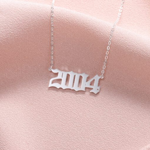 Number Pendant Necklace
