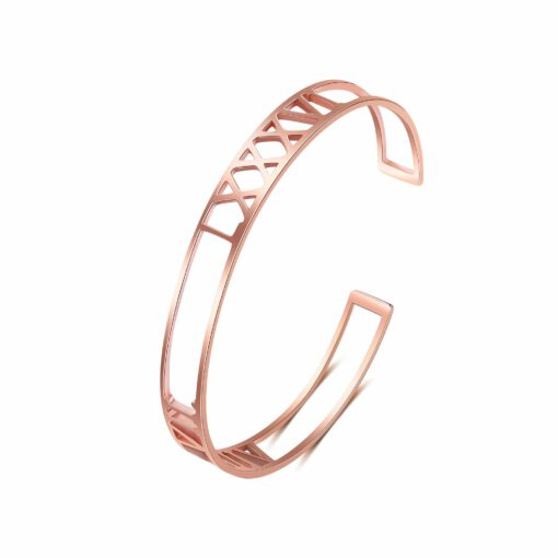 Personalized Anniversary Date Bracelet Rose Gold