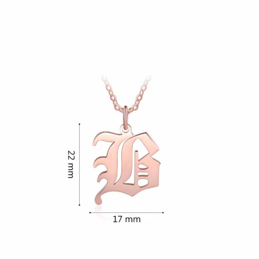 Personalized Any Letter Initial Necklace Rose Gold Size Materials
