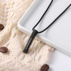 Personalized Black Chain for Men