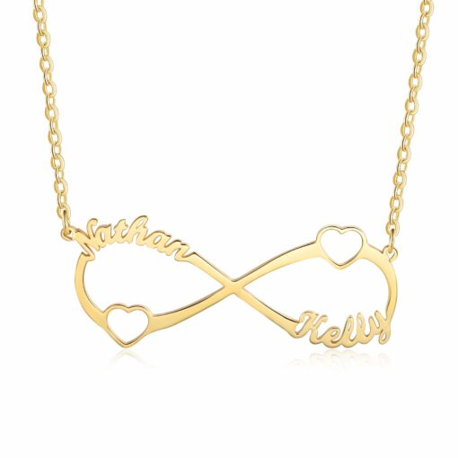 Personalized Couple Necklace Gold