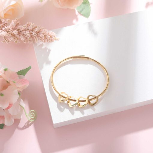 Personalized Gold Bracelet for Mom