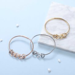 Personalized Gold Bracelet for Mom With Kids Names