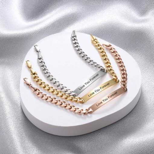 Rose Gold Personalized Bracelet For Women
