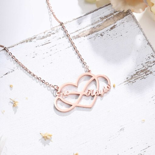 Personalized Infinity Couple Necklace