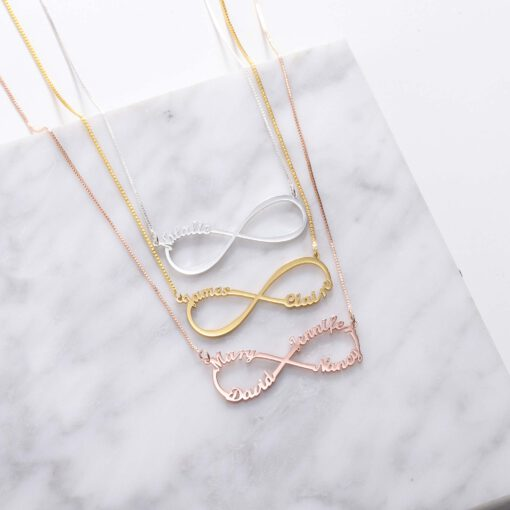 Personalized Infinity Necklace for Her
