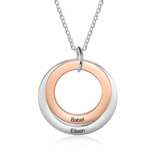 Personalized Mom Of 2 Necklace