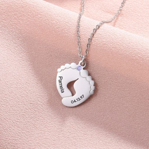 Personalized New Mom Pendant Sterling Silver
