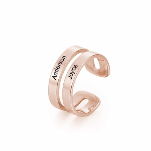Personalized Ring For Mom With Two Names