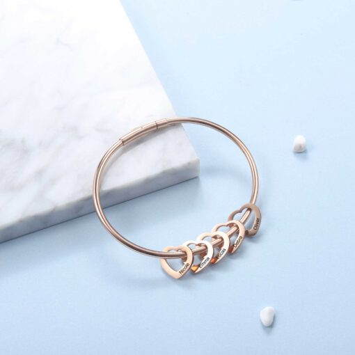 Personalized Rose Gold Bracelet for Mom