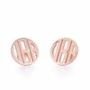 Rose Gold 3 Letters Monogram Stud Earrings