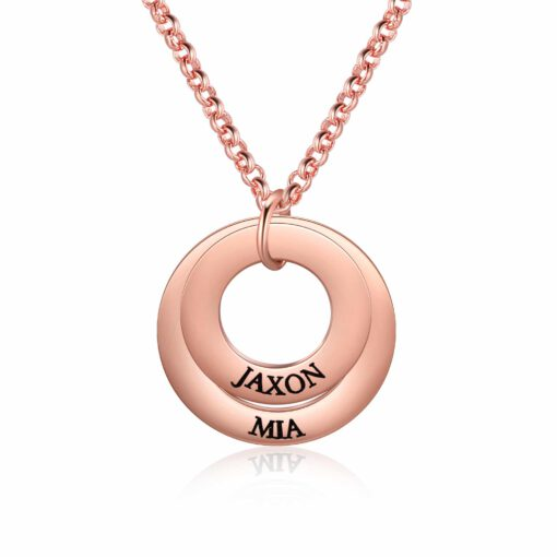 Rose Gold Family Necklace