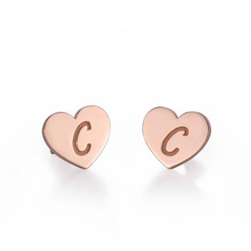Rose Gold Gold Heart Earring