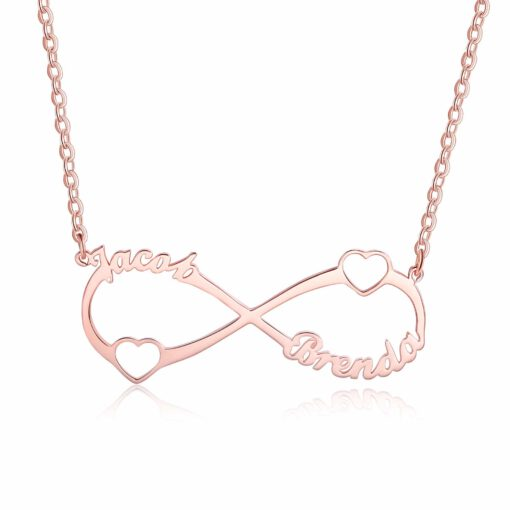 Rose Gold Infinity Necklace For Couples