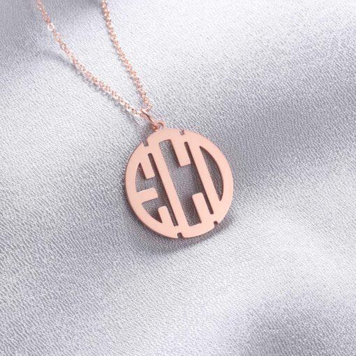 Rose Gold Monogrammed Necklace