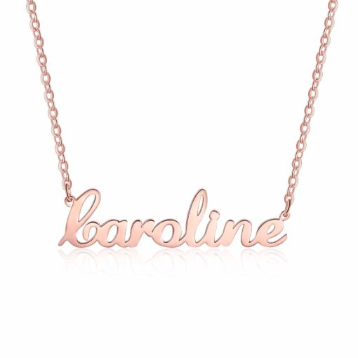 Rose Gold Pendant With Name In English