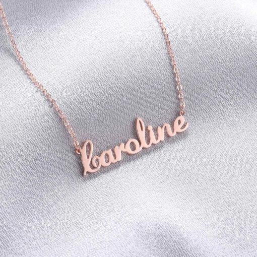 Rose Gold Name Pendant