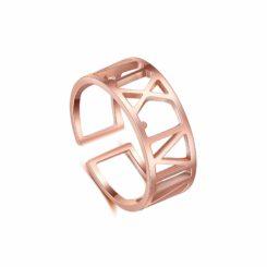 Rose Gold Name Ring For Women