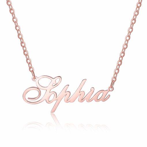 Rose Gold Nameplate Necklace