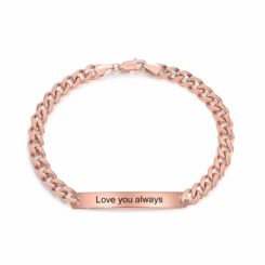 Silver Couple Custome Bracelet For Him Her