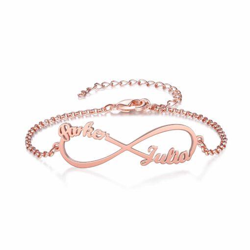 Rose Gold Personalized Couple Bracelet