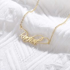 Script Name Necklace Gold