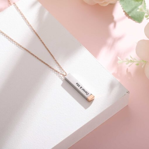 Secret Message Necklace For Couple