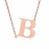 Side Initial Necklace Rose Gold
