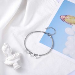 Silver Bracelet for Grandma With Engraved Names