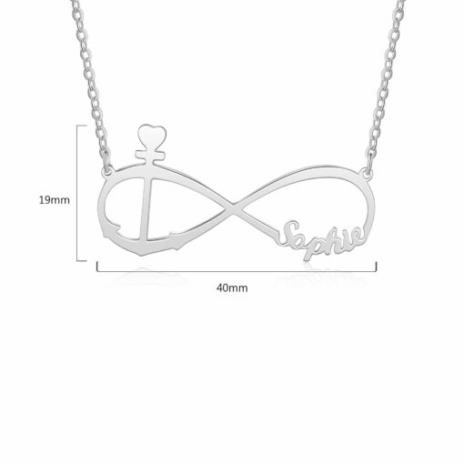 Silver Infinity Necklace With Name Handmade Size Materials