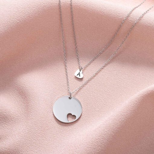 Silver Mother Daughter Necklace