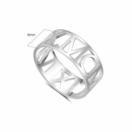 Silver Roman Numeral Ring Size Materials