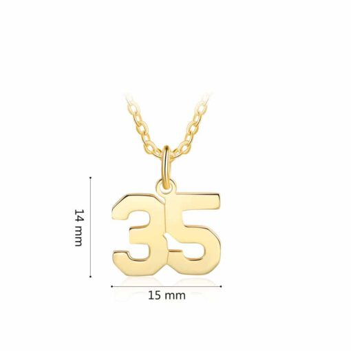 Softball Necklace With Number Size Materials