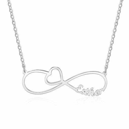 Sterling Silver Infinity With Names