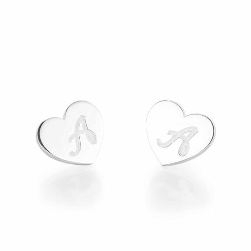 Sterling Silver Initial Earrings