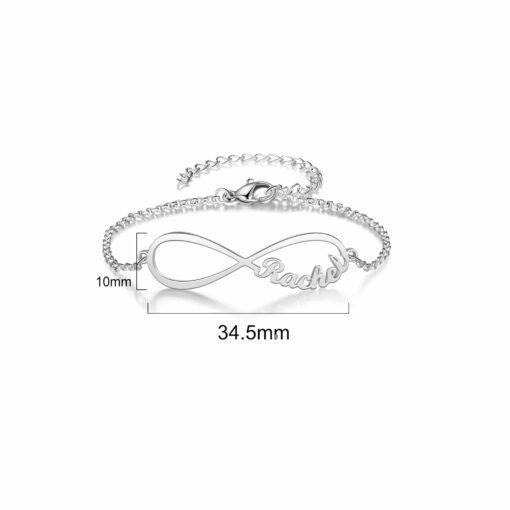 Sterling Silver Personalized Infinity Bracelet