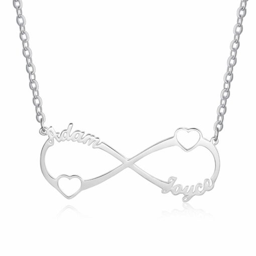 Sterling Silver Personalized Infinity Symbol Necklace