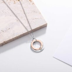 Two Tone Mother Necklace