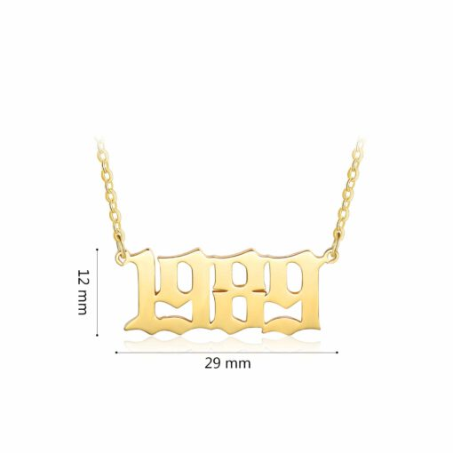 Year Of Birth Necklace
